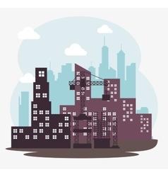 building town construction design vector image