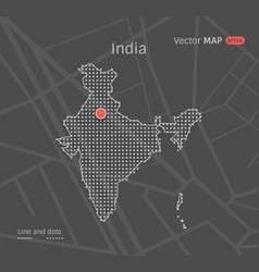 dotted india map vector image vector image