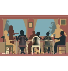 Family dining vector image vector image