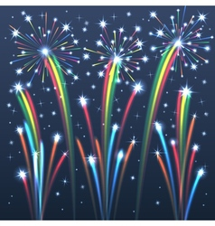 fireworks colorful 2 vector image vector image