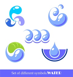 set of symbols water vector image vector image
