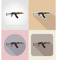weapon flat icons 01 vector image vector image
