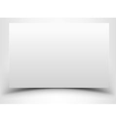 Blank white sheet of paper with shadow vector image