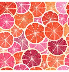 Grapefruit seamless big background vector image