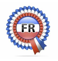 national flag badge FR vector image vector image