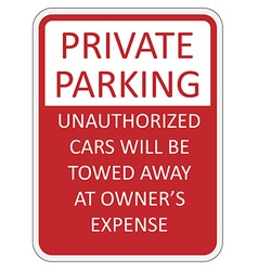 Private parking vector image vector image