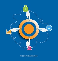 Problem identification flat design concept vector image