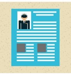 professional resume design vector image