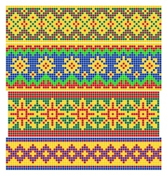 Set of Old Russian patterns vector image