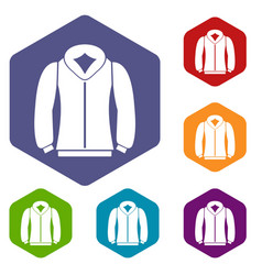 sweatshirt icons set vector image