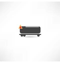 tank car icon vector image
