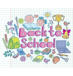 Back to school composition color vector image