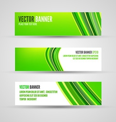 banners green lines vector image vector image