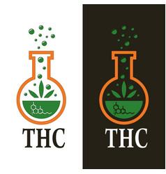 cannabis as thc vector image vector image