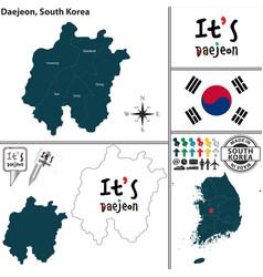 daejeon metropolitan city south korea vector image vector image