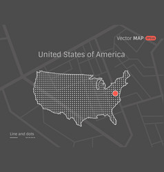 dotted usa map vector image vector image