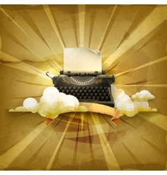 Typewriter old style background vector image vector image
