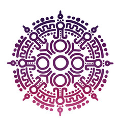 colorful ancient mexican mythology symbol vector image vector image
