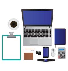 Elements for design Laptop Smartphone Pencil Etc vector image vector image