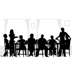 Family meal vector image vector image