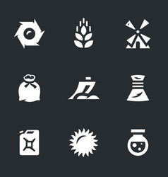 set of wheat icons vector image