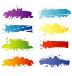 Splash banners color vector