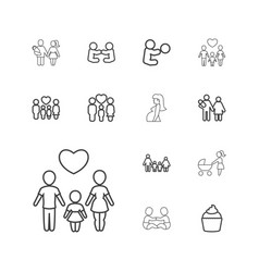 13 mom icons vector