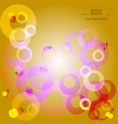 3d abstract composition of circles of rings vector image
