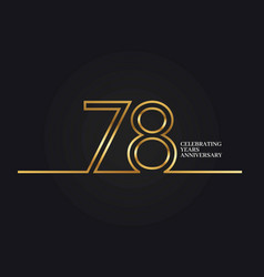 78 years anniversary vector image