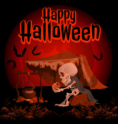 a poster on the theme of the halloween holiday vector image