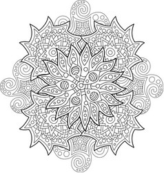 abstract coloring book art on white background vector image