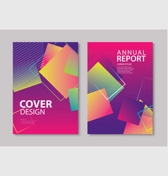 abstract gradient modern geometric flyer vector image