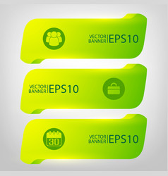 Abstract green infographic horizontal banners vector