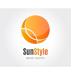Abstract sun logo template for branding and vector image