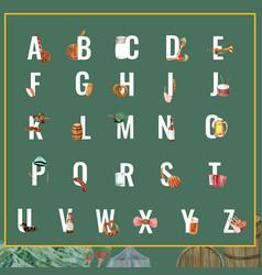 Alphabet design with oktoberfest concept creative vector