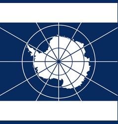 antarctic flag vector image