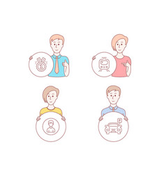 approved train and person icons parking sign vector image