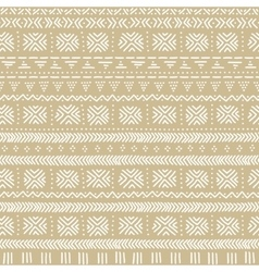 Beige and white mudcloth african ethnic geometric vector image