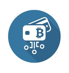 bitcoin debit card icon vector image