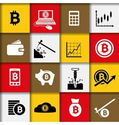 bitcoin icons vector image vector image