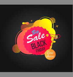 bright label black friday discount vector image
