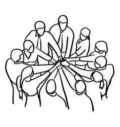 Business people teamwork join hands vector