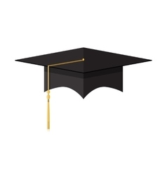 Cademic graduation cap student hat vector