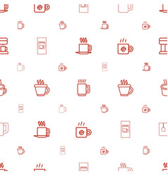 Caffeine icons pattern seamless white background vector