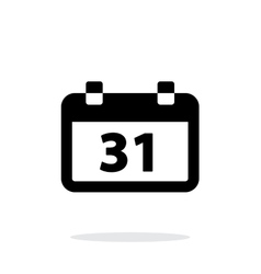 Calendar date simple icon on white background vector image
