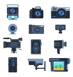 Camera set vector image