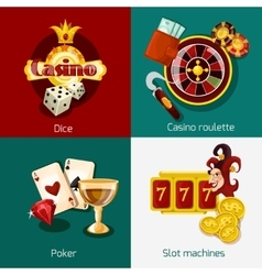casino concept set vector image