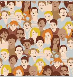 children crowd group multinationals seamless vector image
