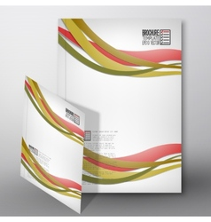 Colored wave background Brochure flyer or report vector
