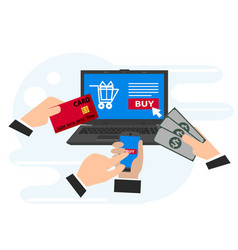 concepts of online payment methods online vector image